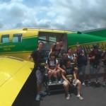 Flugzeug und Crew