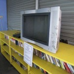 Fernseher und Bücherregal
