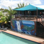 Pool im Hostel