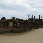 Schiffswrack auf Fraser
