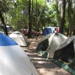 Zeltlager im Camp