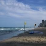 Flaggen am Strand