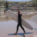 Ich mit Surfbrett