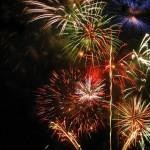 Feuerwerk im Botanischen Garten