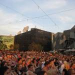 Menschenmenge am Federation Sq.