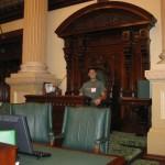 Ich im Parlament